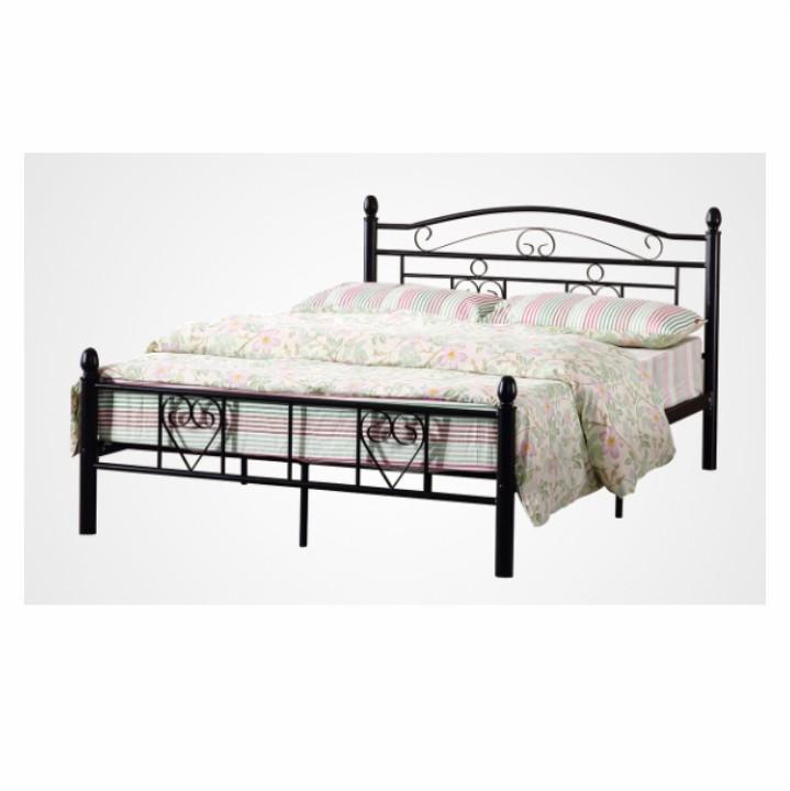 Manželská posteľ 140 cm Brita (s roštom) (čierna) *výpredaj