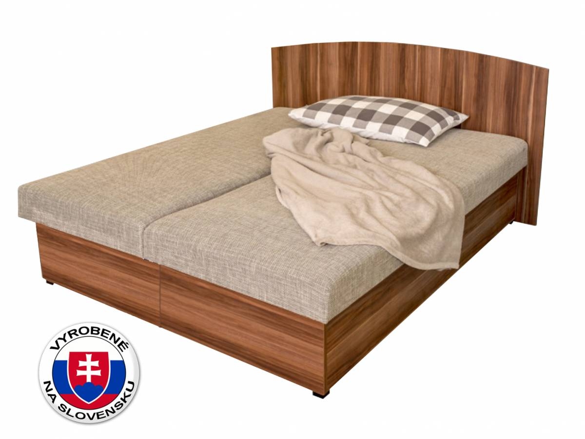 Manželská posteľ 160 cm Benab Carina Wood (s roštami a matracmi)