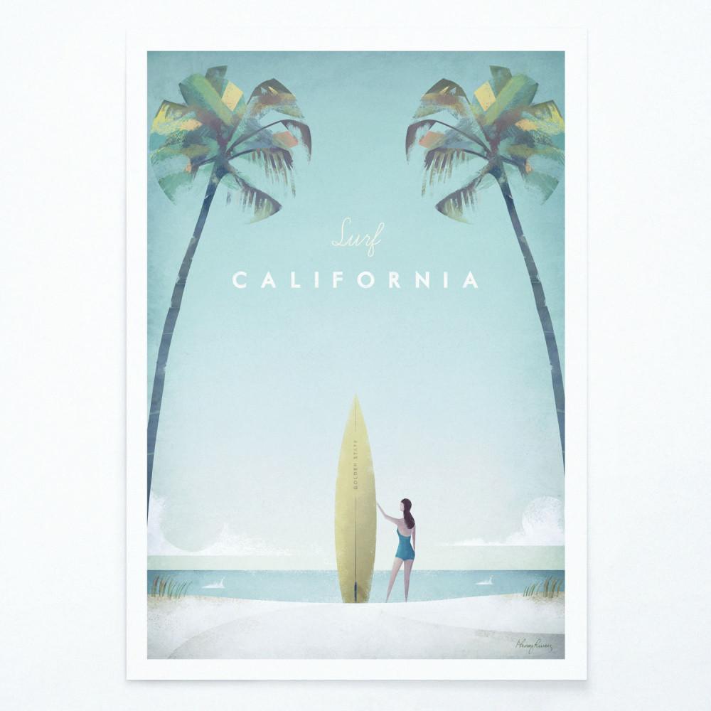 Plagát Travelposter California, A2