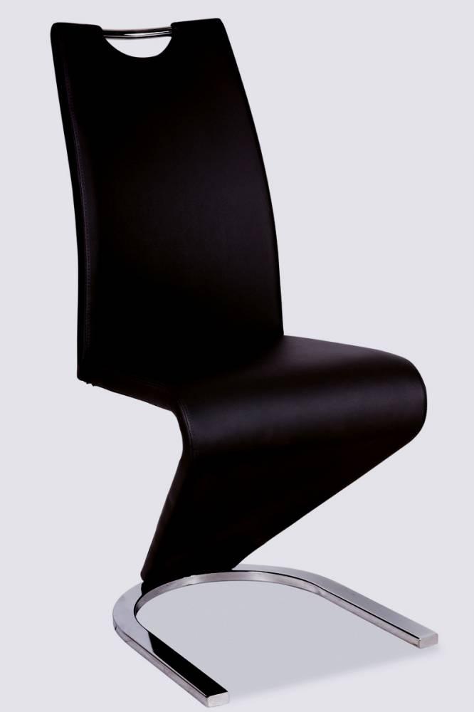 Jedálenská stolička HK-090, čierna/chróm