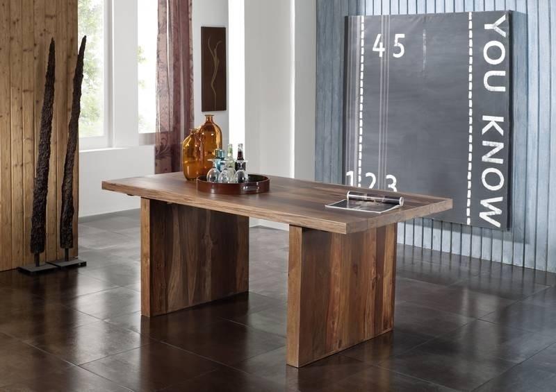 DUKE Sheesham jedálenský stôl 220x100, masívne palisandrové drevo #104