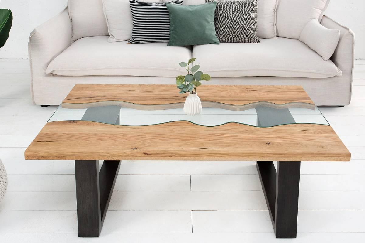 Bighome - Konferenčný stolík RIVIERA 115 cm - prírodná