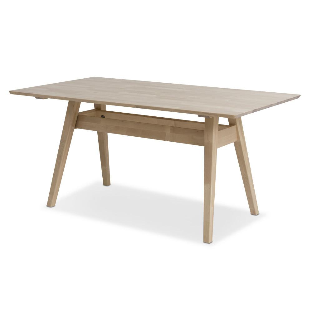 Ručne vyrobený jedálenský stôl z masívneho brezového dreva KiteenNotte, 75 x 140 cm