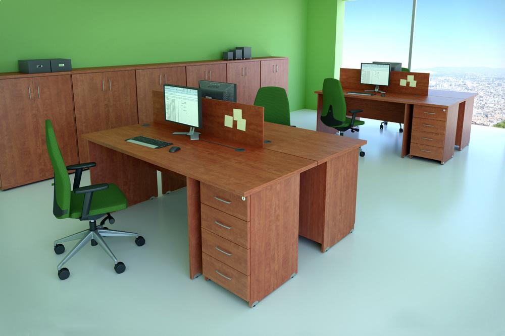 Rauman Zostava kancelárskeho nábytku Visio 5 calvados R111005 03