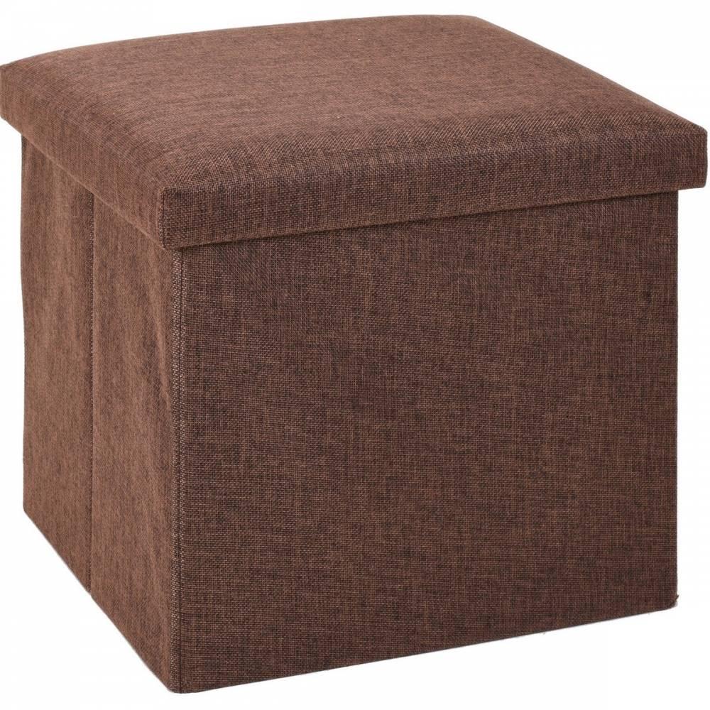Úložný sedací box Tessile hnedá, 38 x 38 x 38 cm
