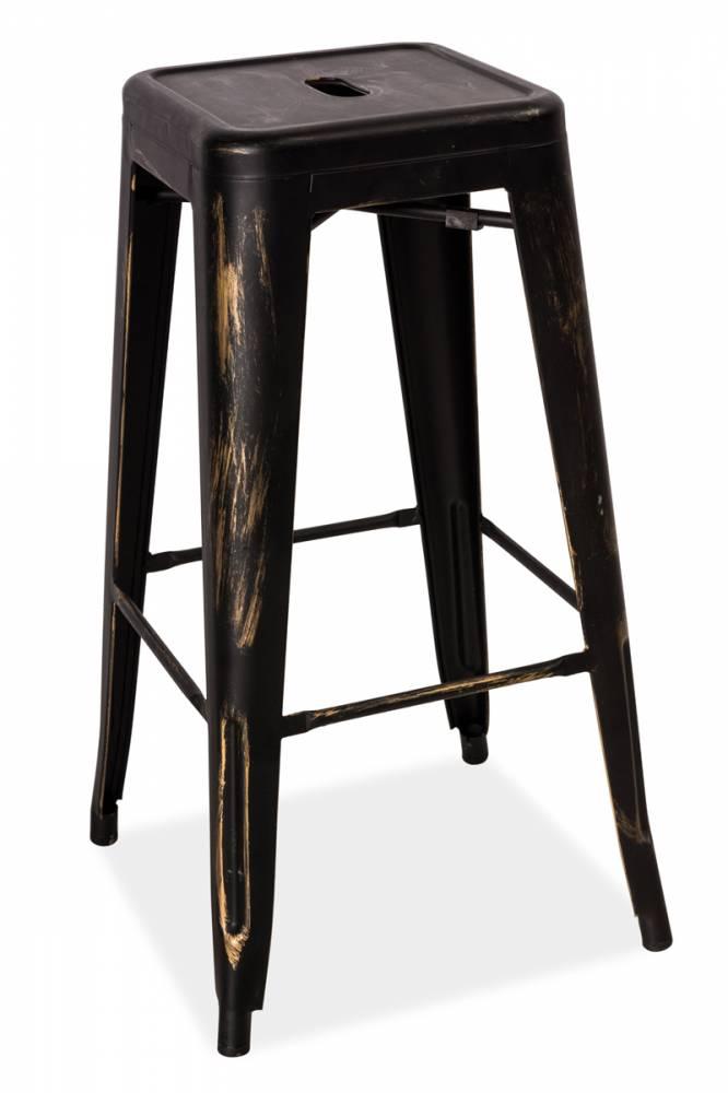 LANG barová stolička, brúsená čierna