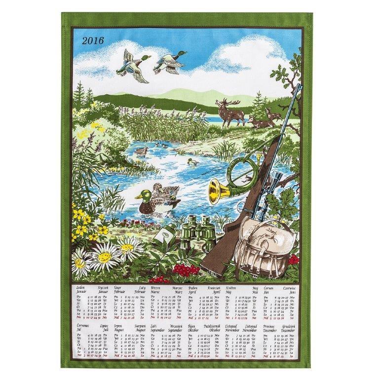 Forbyt Textilný kalendár 2016 Poľovnícky, 45 x 65 cm
