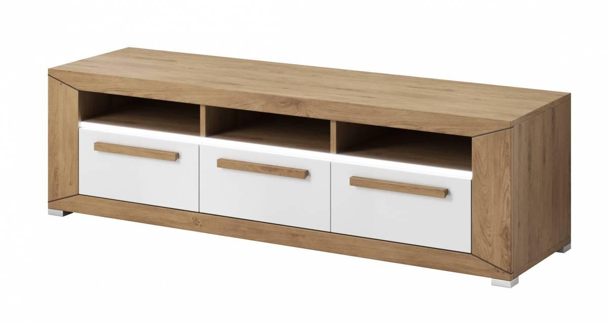 TV stolík/skrinka Typ 40 (dub Beaufort + biely lesk)
