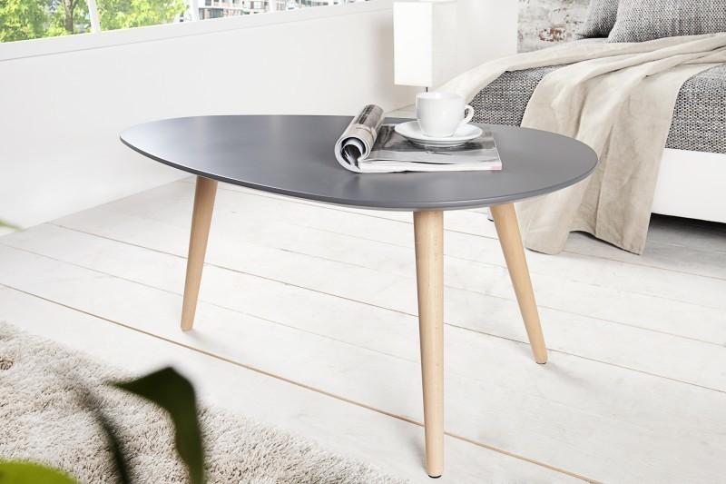 Konferenčný stolík SCANIA MEISTER 75 cm  - sivá