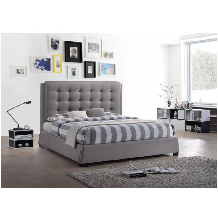 TEMPO KONDELA Manželská posteľ, sivá, 180x200, EVENT