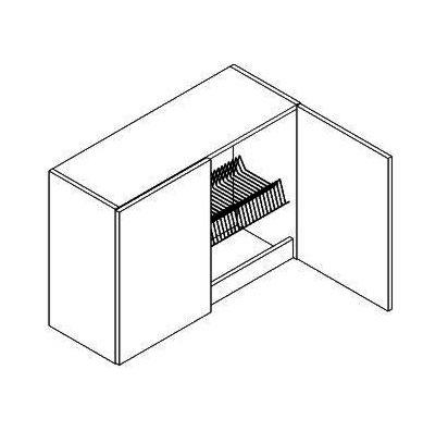 W80SU/58 horná skrinka s odkvapávačom MOREEN, dub lefkas