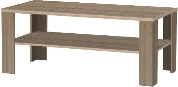 Konferenčný stolík, dlhý, tmavy truflový dub sonoma, INTERSYS 22
