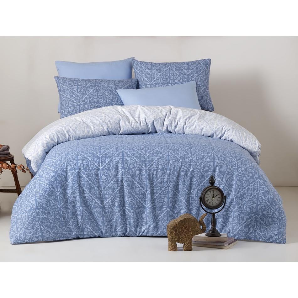 BedTex Bavlnené obliečky Vira Blue, 140 x 200 cm, 70 x 90 cm
