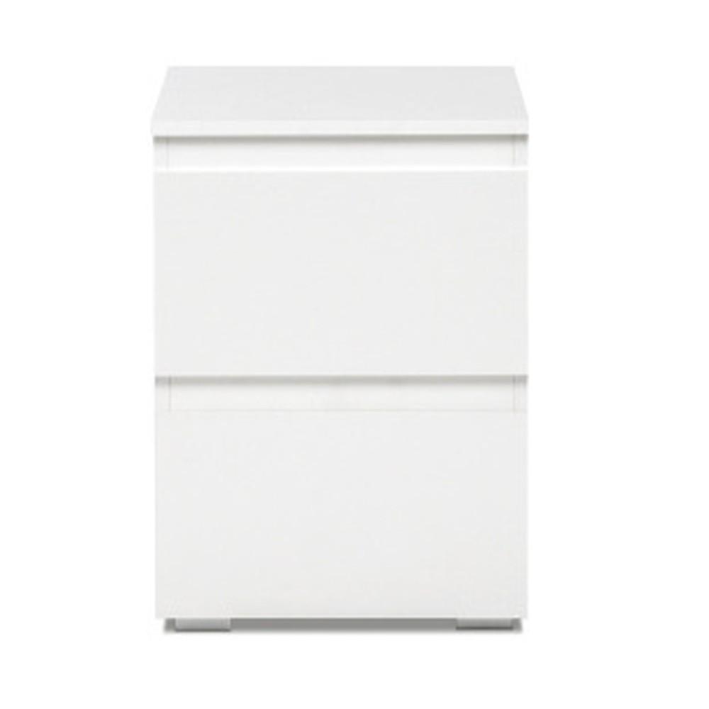 Biely nočný stolík s 2 zásuvkami Intertade Image