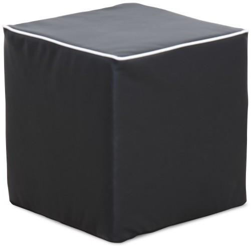 TEMPO KONDELA COBE taburetka - čierna ekokoža