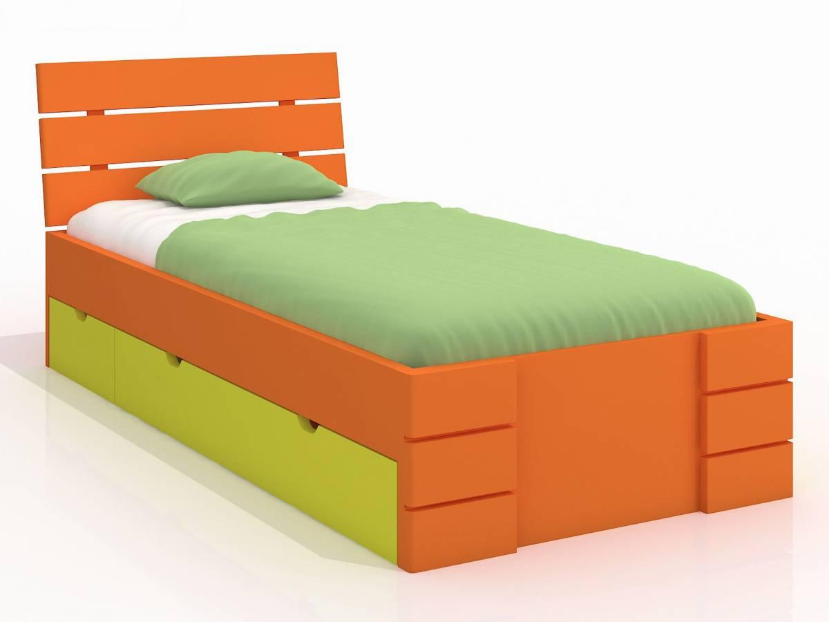 Jednolôžková posteľ 90 cm Naturlig Kids Lorenskog High Drawers (borovica) (s roštom)