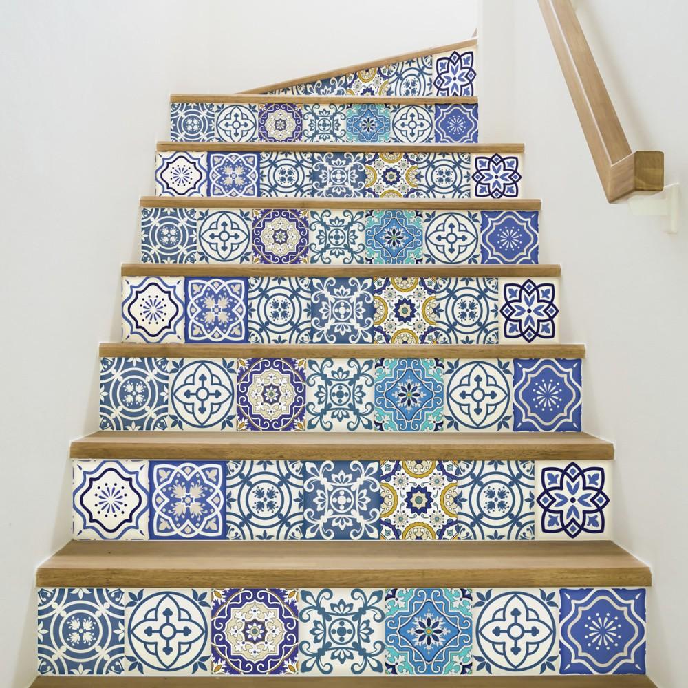 Sada 2 samolepiek na schodiště Ambiance Romina, 15×105 cm