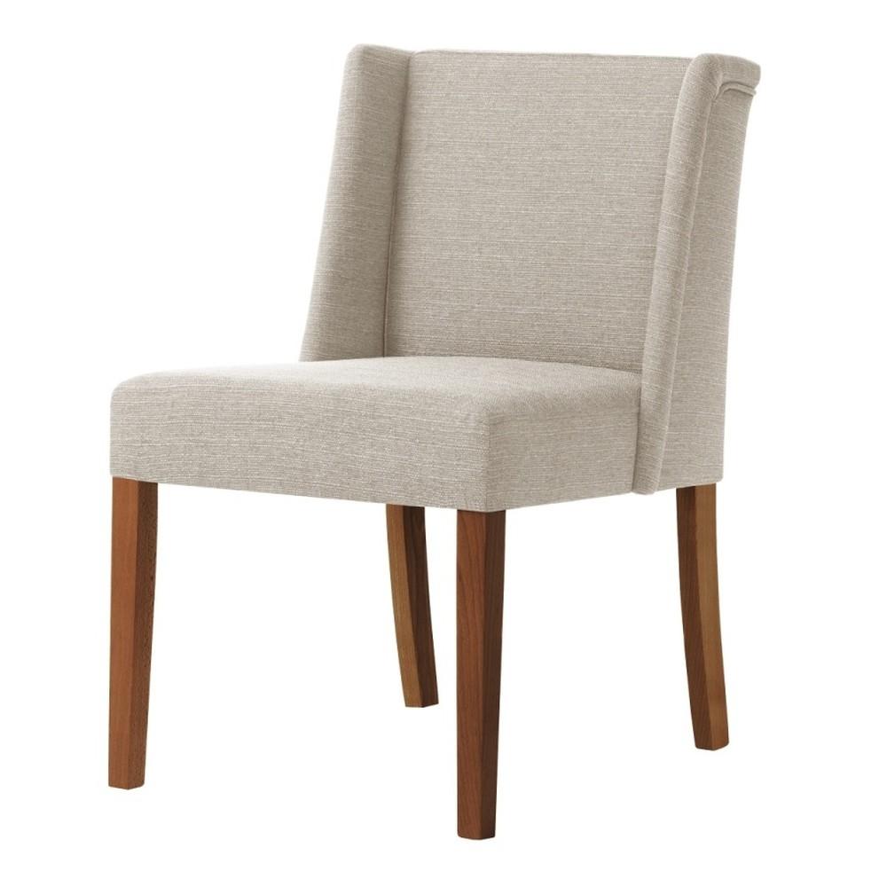 Krémová stolička s tmavohnedými nohami Ted Lapidus Maison Zeste