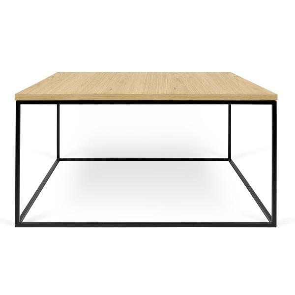 Konferenčný stolík s čiernymi nohami TemaHome Gleam, 75cm