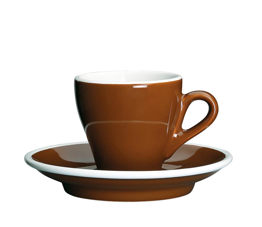 Šálka na espresso s podšálkou hnedá Milano 50 ml