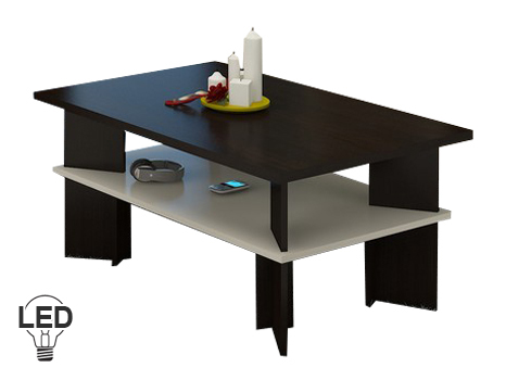 Konferenčný stolík Vectra 2 (wenge + krém)