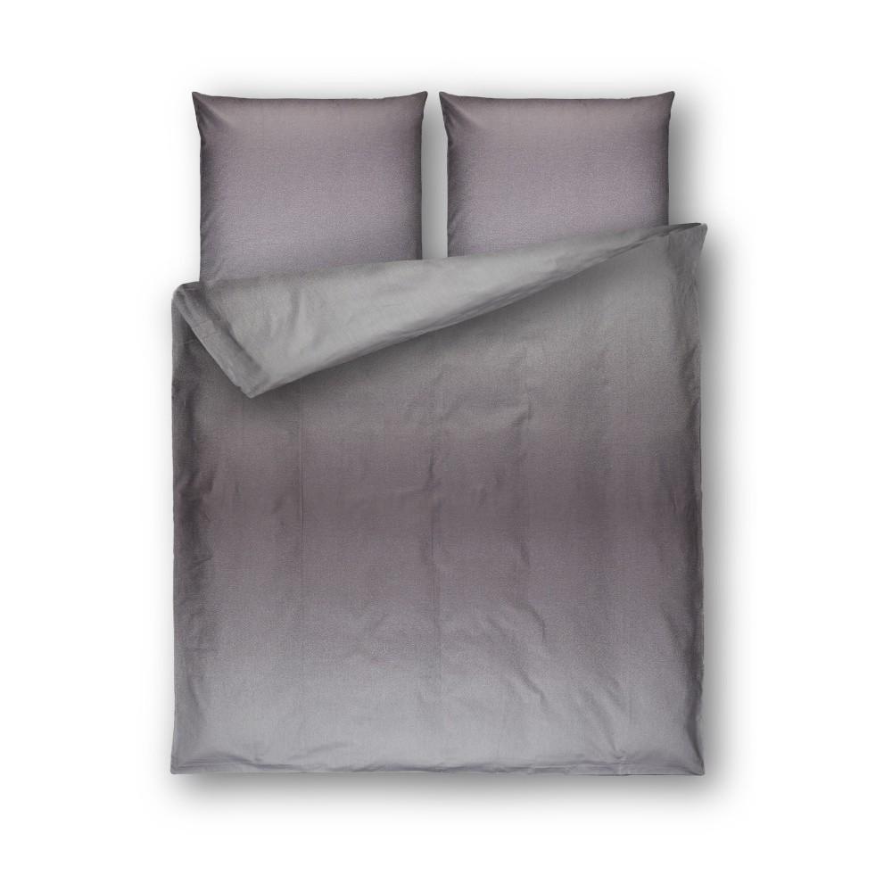 Sivé damaškové obliečky Casa Di Bassi Basic, 200×200 cm