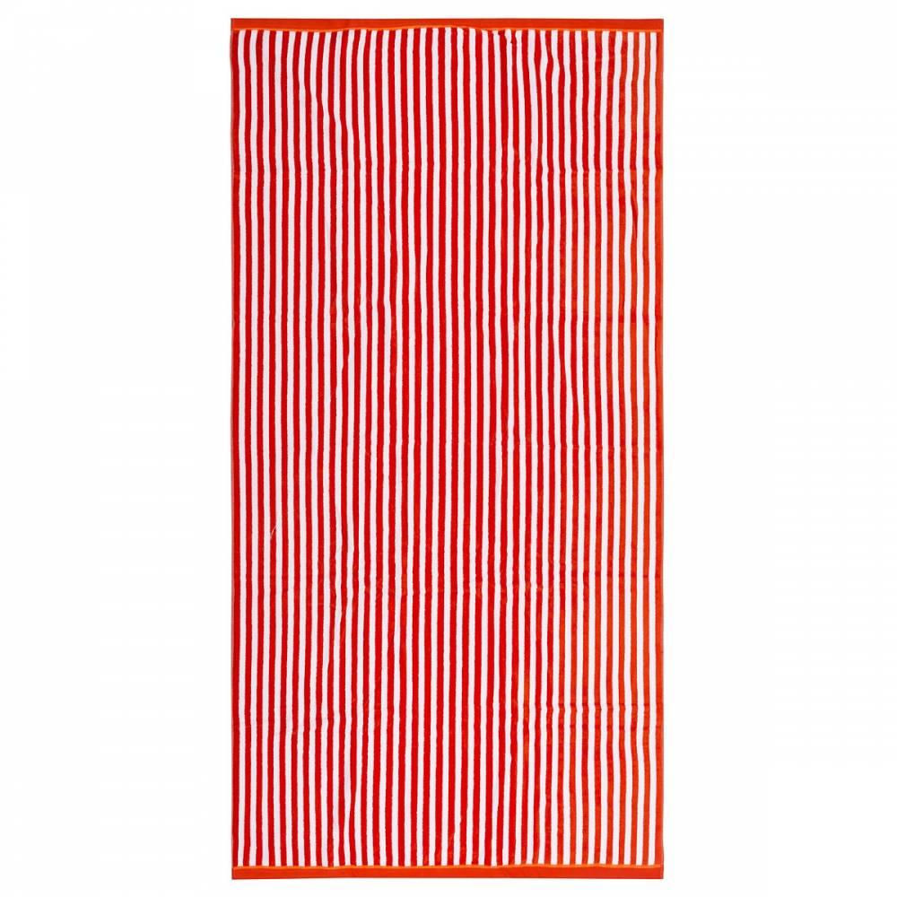 TipTrade Plážová osuška Beach Waves oranžová 90x170
