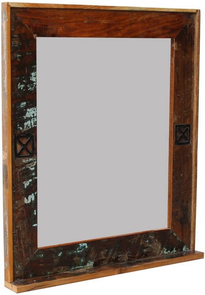 SPIRIT BAD Zrkadlo #104 indické staré drevo, lakované