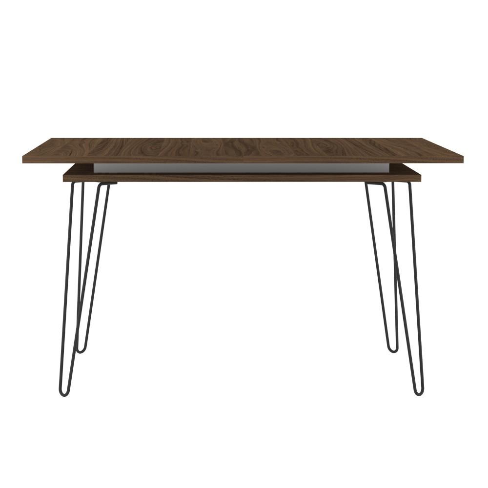 Tmavohnedý rozkladací jedálenský stôl Symbiosis Aero