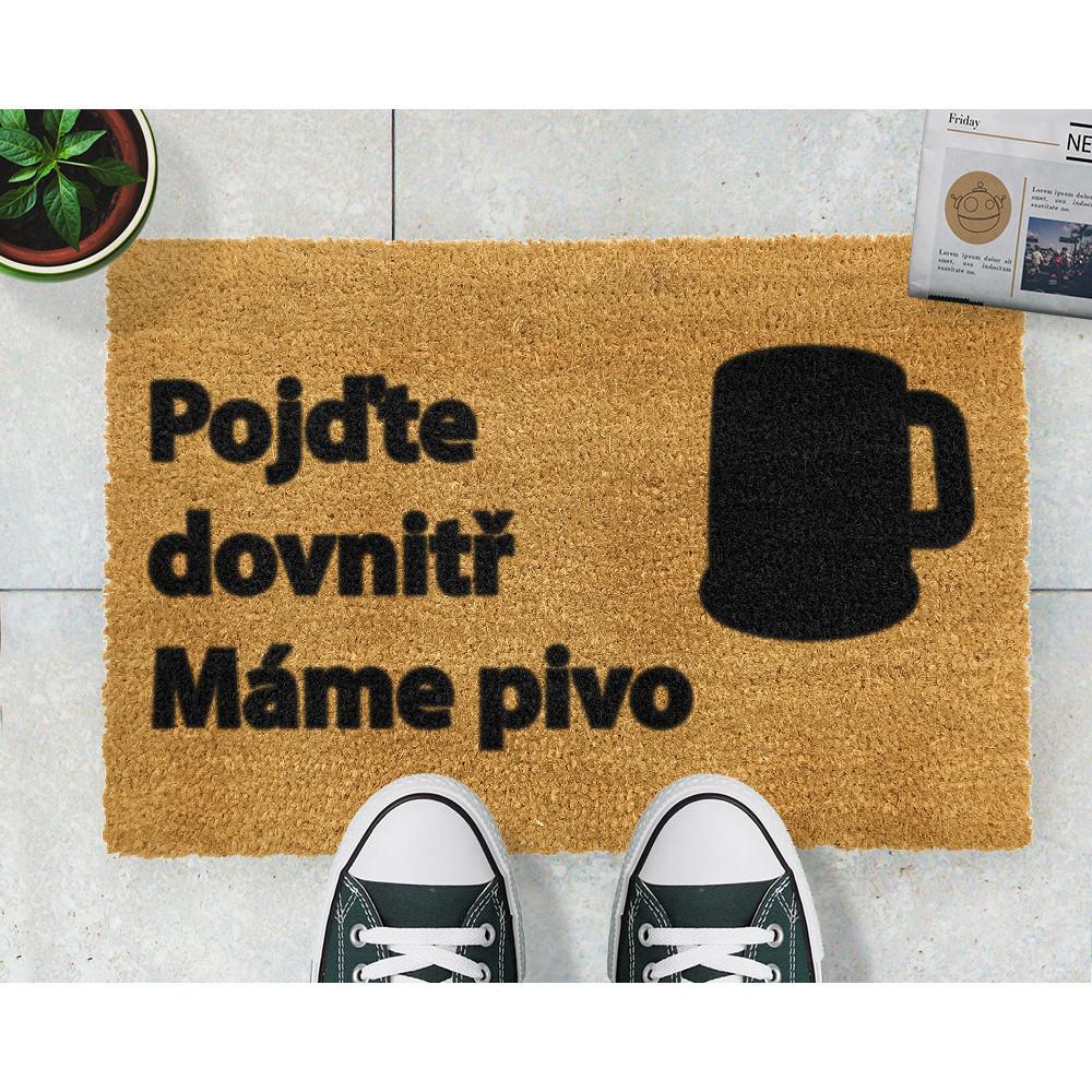 Rohožka Artsy Doormats Pivo, 40x60cm