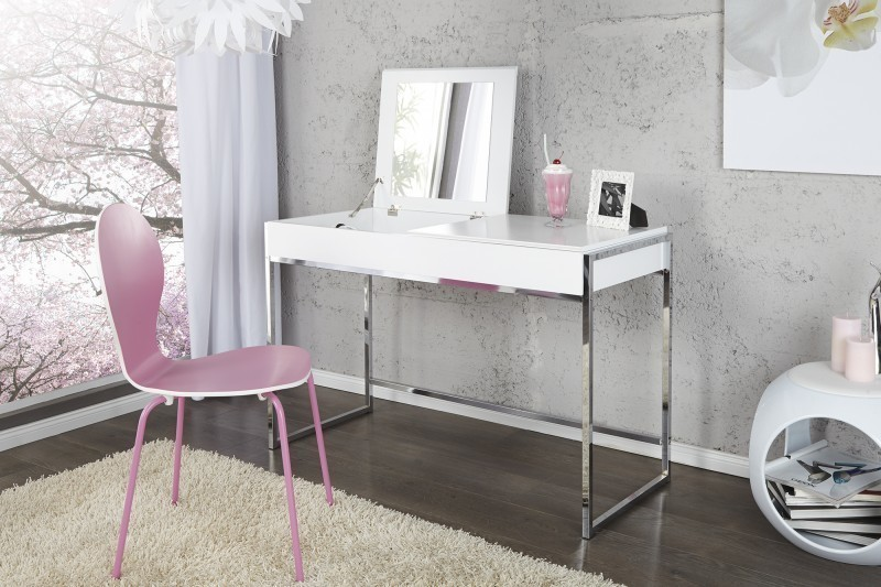 Písací stôl MILANO - biela