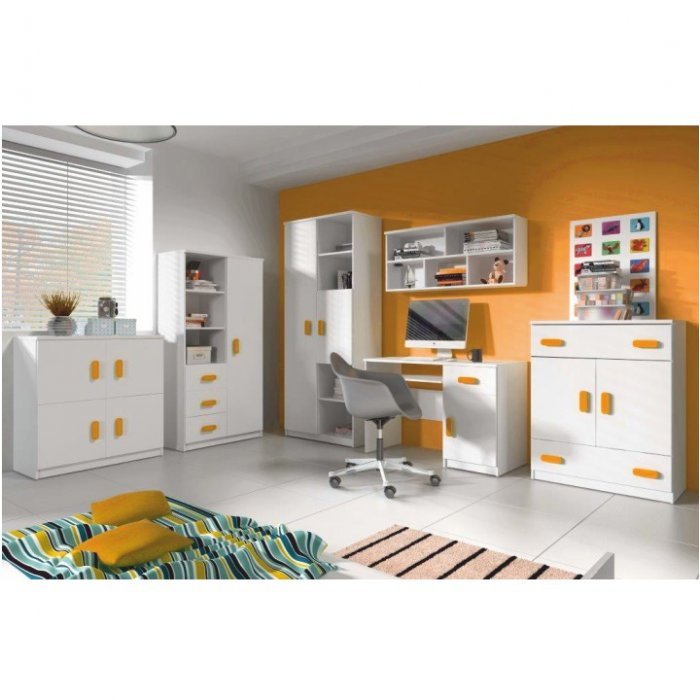 56b3ae011317 TEMPO KONDELA SVEND detská izba - biela   oranžová