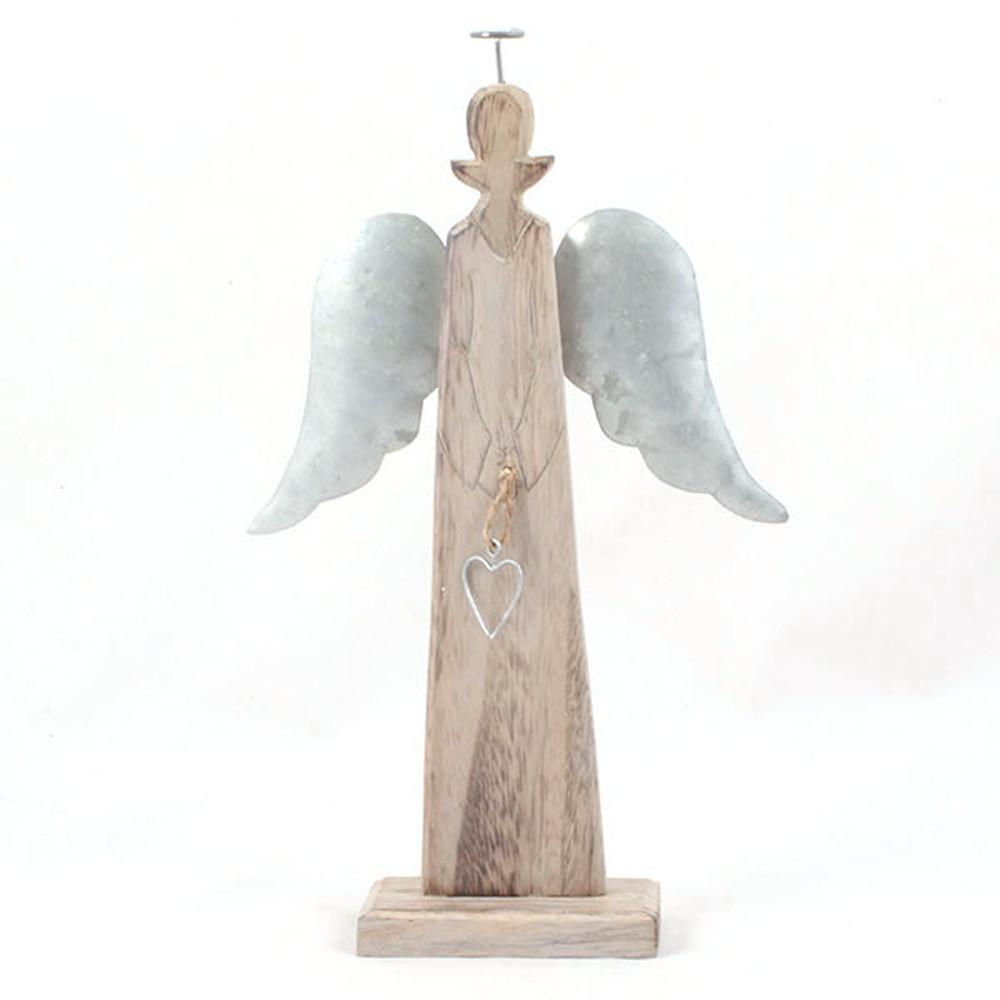 Drevený anjel Dakls, výška24 cm