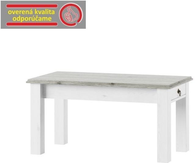 Konferenčný stolík, biela, LIONA LM 97