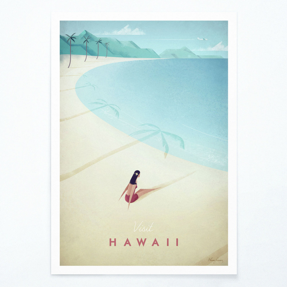 Plagát Travelposter Hawaii, A2