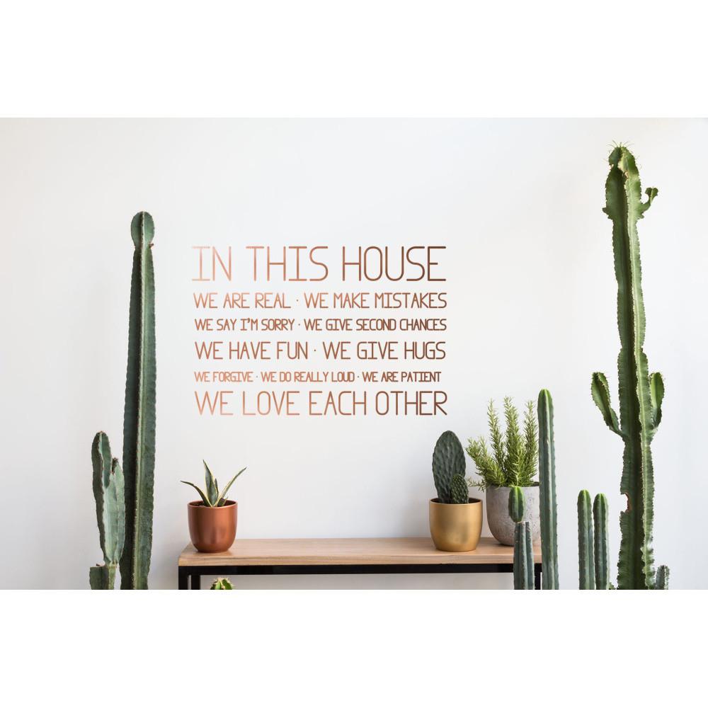 Vinylová samolepka na stenu Really Nice Things This House
