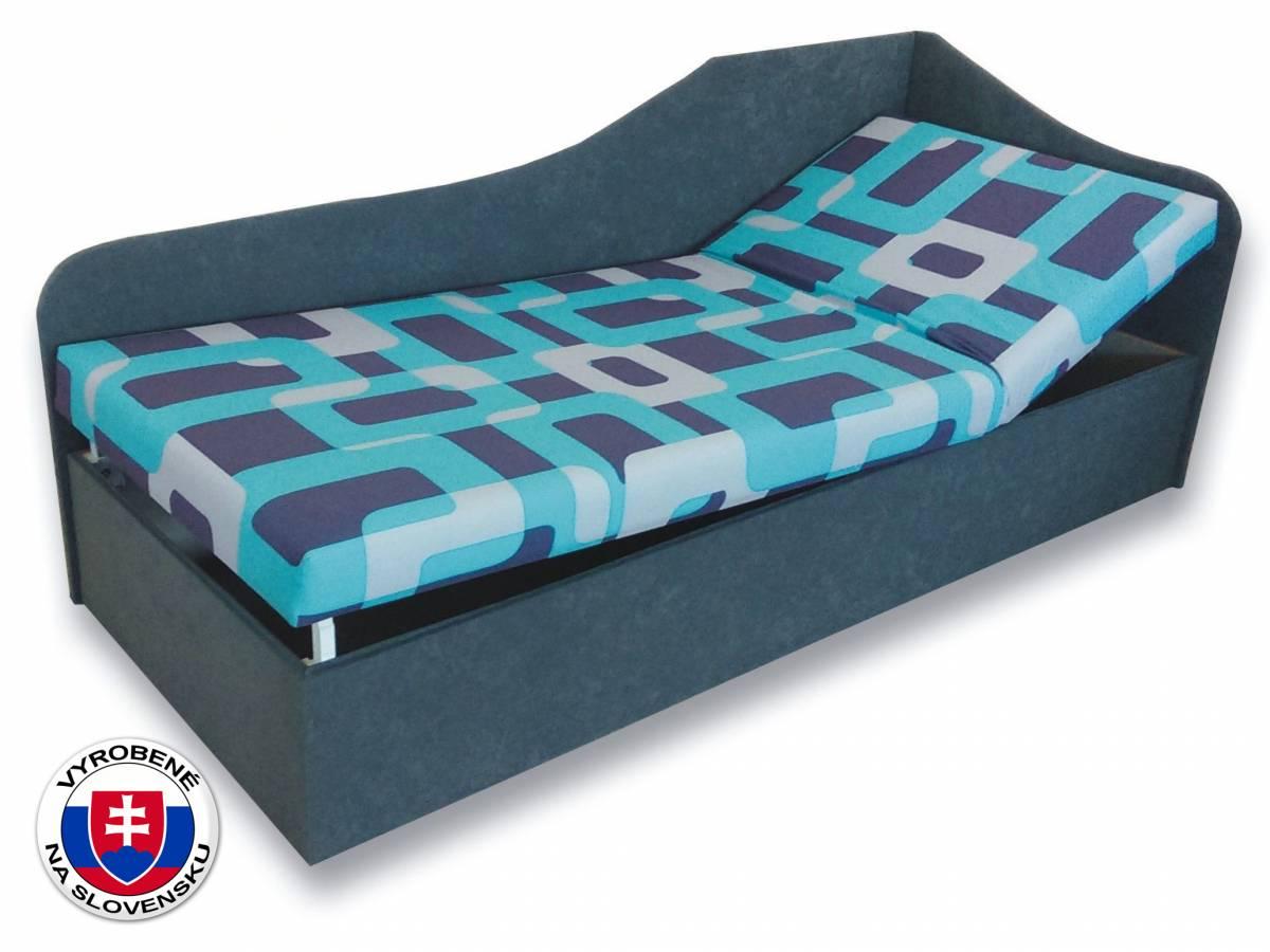 Jednolôžková posteľ (váľanda) 80 cm Anita (Gusto 4A + Sivá 81) (P)