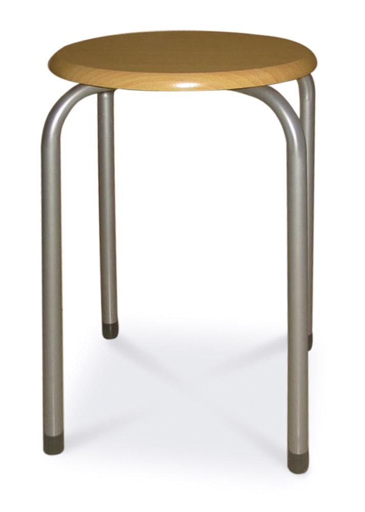 TABURET taburetka, tmavohnedá/alumínium