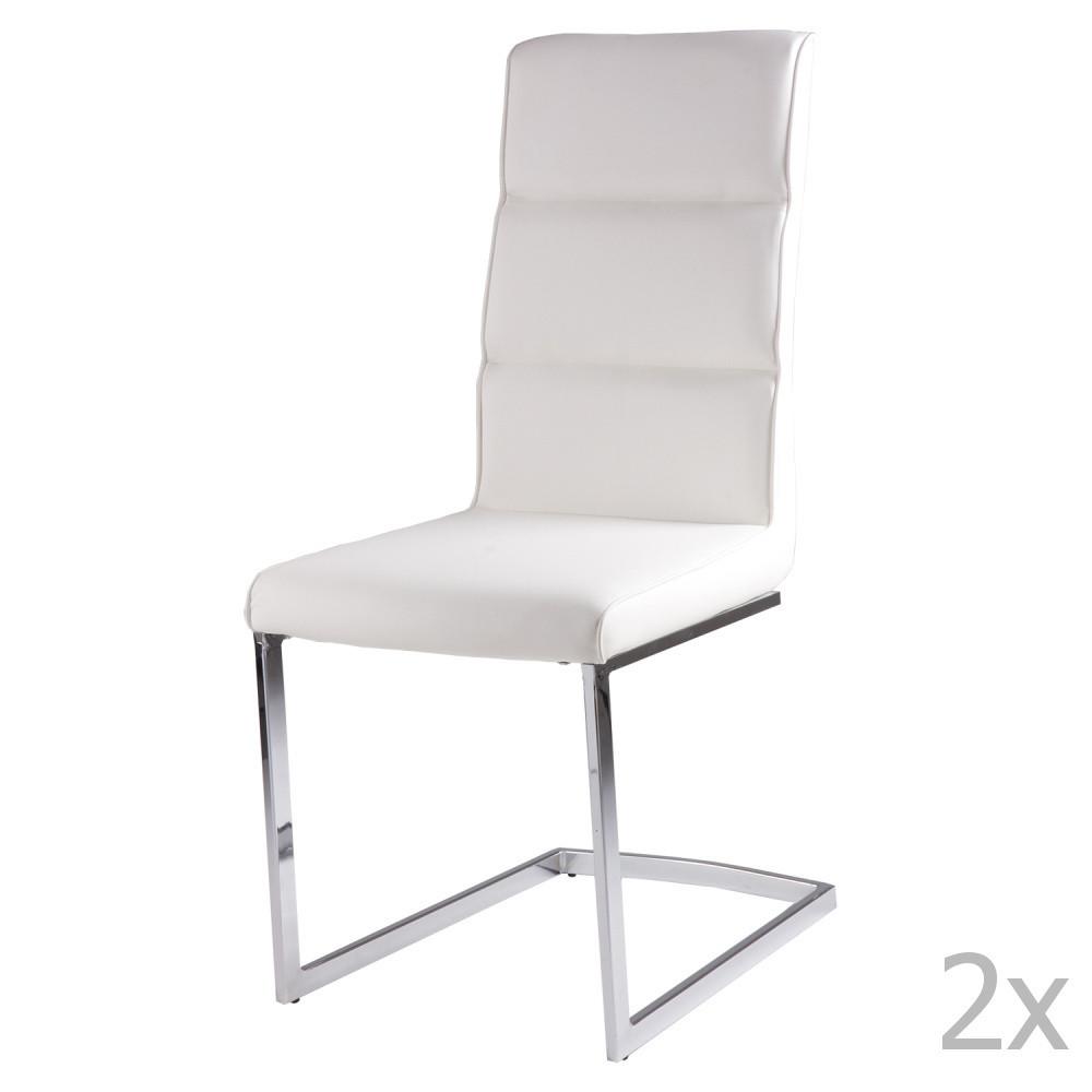 Sada 2 bielych jedálenských stoličiek sømcasa Camile