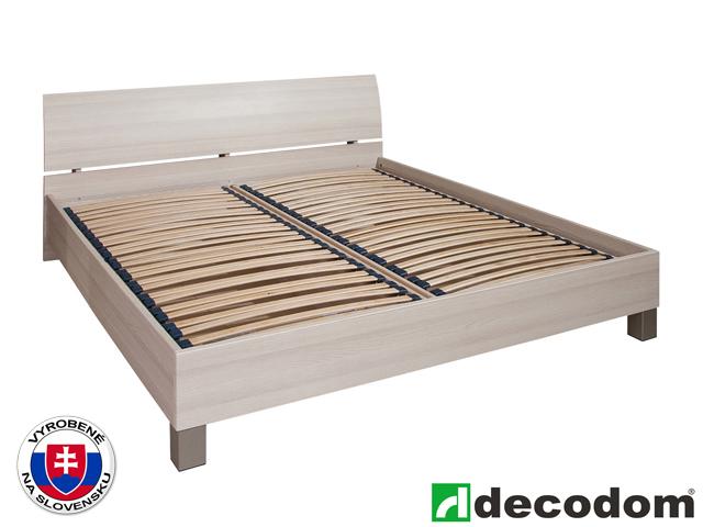 Manželská posteľ 180 cm Decodom Cassanova verzia senior jaseň coimbra (s úl. priestorom a roštom)