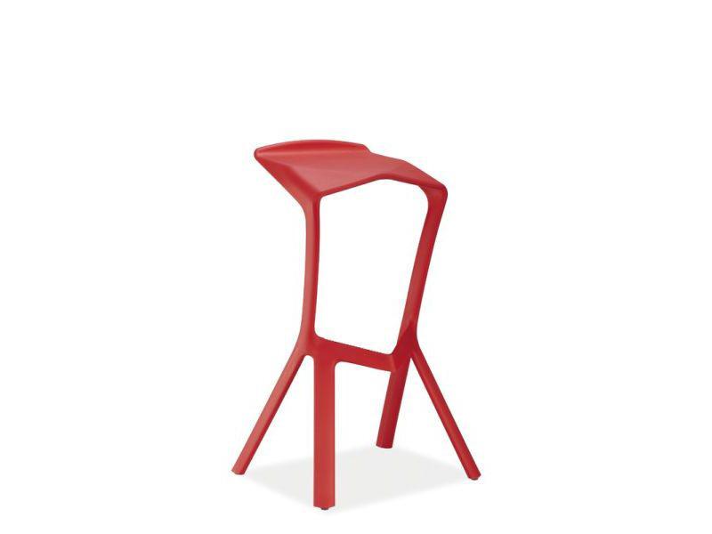 Barová stolička FOLT, červená