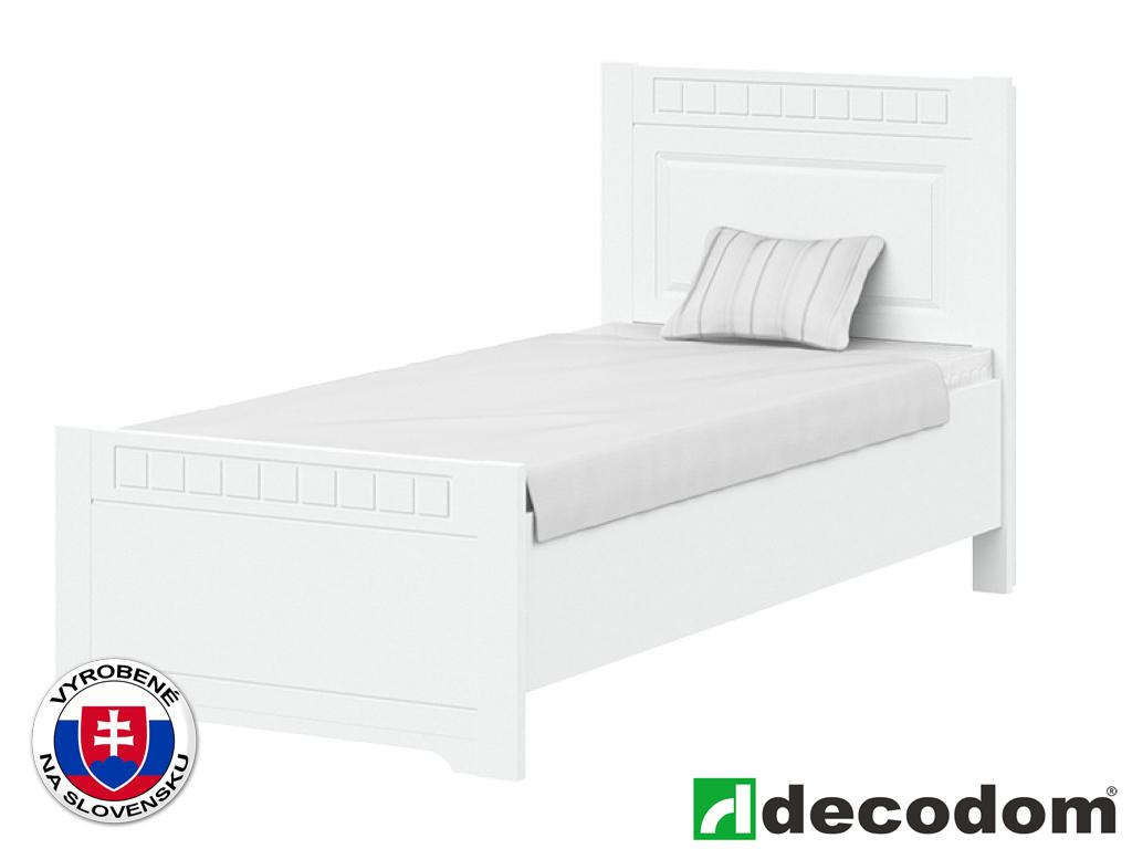 Jednolôžková posteľ 90 cm Decodom Lirot Typ P-90 (biela arctic)