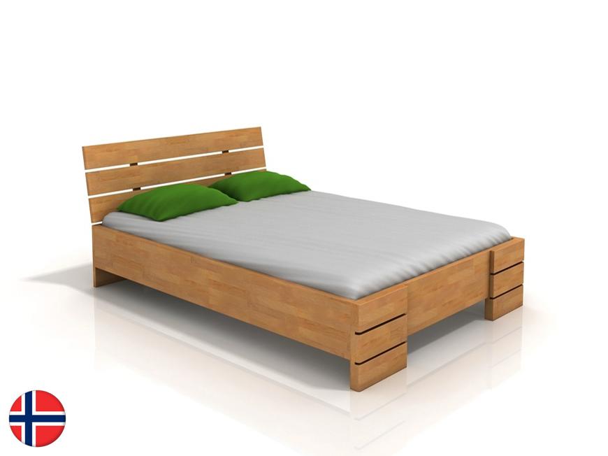 Manželská posteľ 200 cm Naturlig Lorenskog High (buk) (s roštom)