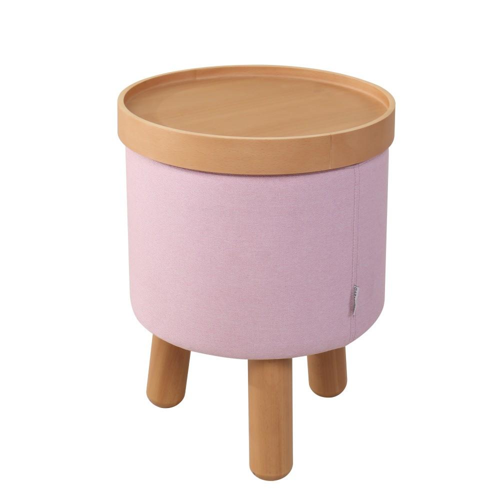 Ružová stolička Garageeight Molde s odnímateľným vrchom, veľkosť S