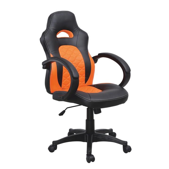 Kancelárske kreslo NELSON   Farba: čierna/oranžová
