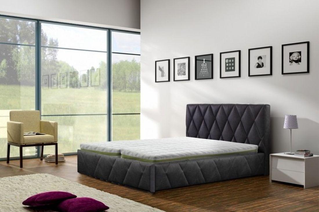 Luxusná posteľ DREAM, 180x200 cm, madrid 1100 + úložný priestor