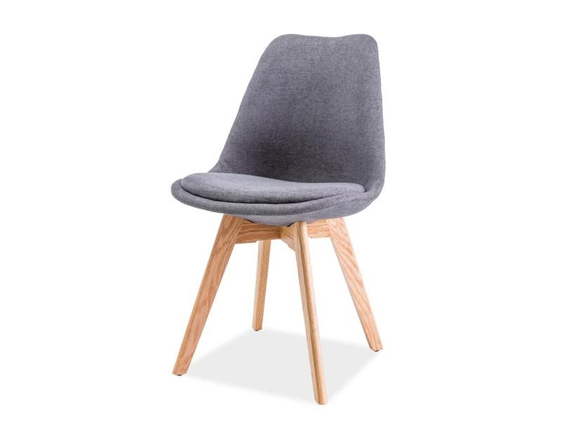 CHRISTIAN jedálenská stolička, dub/sivá