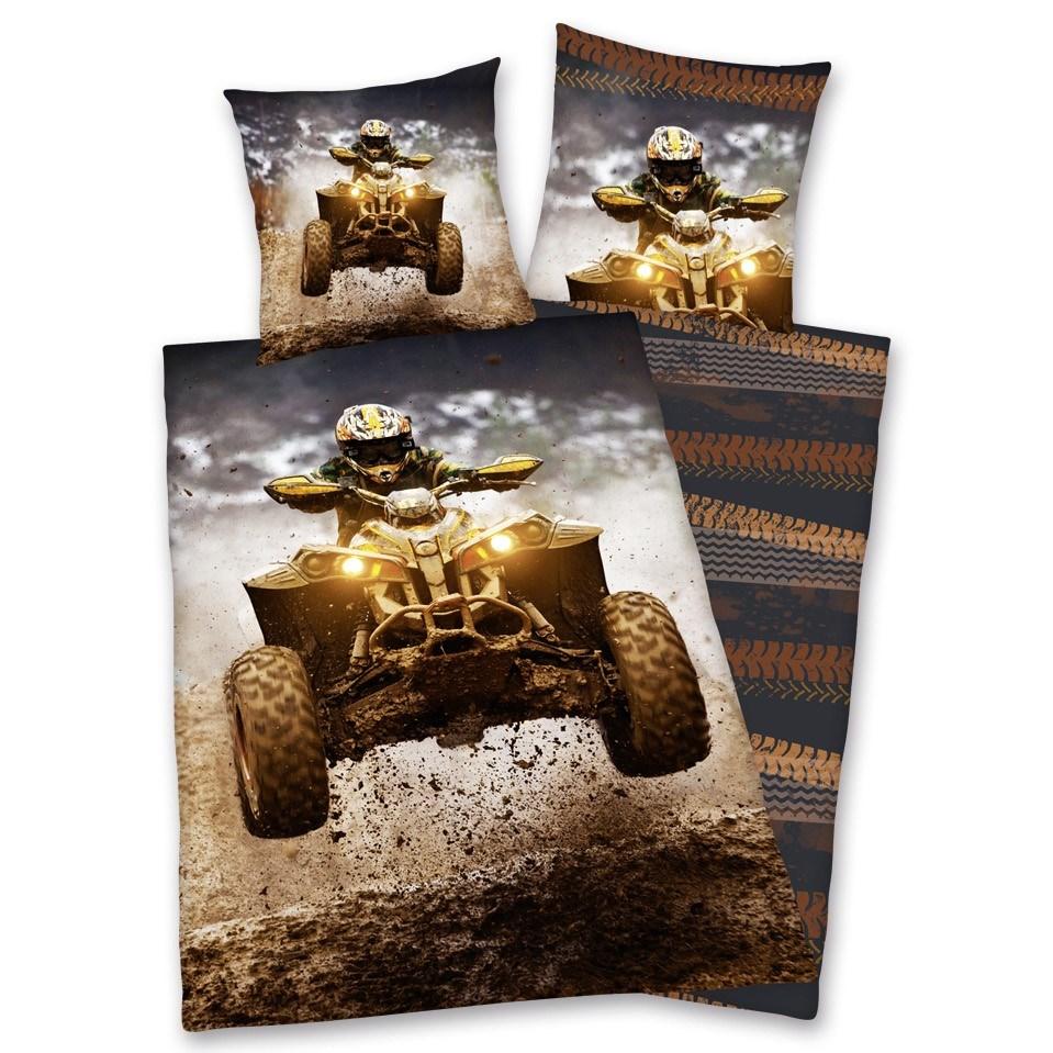 Herding Bavlnené obliečky Štvorkolka, 140 x 200 cm, 70 x 90 cm