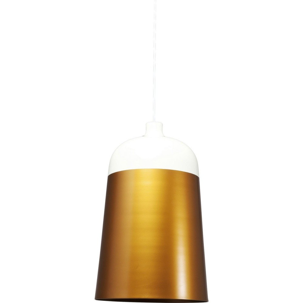 Biele stropné svietidlo s detailmi v zlatej farbe Kare Design La Oila, ⌀ 33 cm