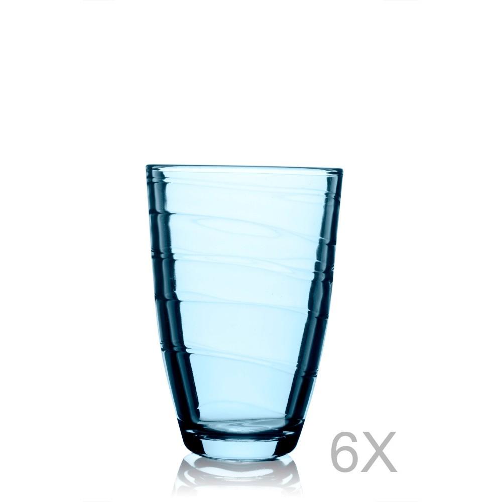 Sada 6 modrých pohárov Pasabahce, 360 ml